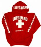 RED USA STYLE LIFEGUARD HOODIE + TOWN / CITY